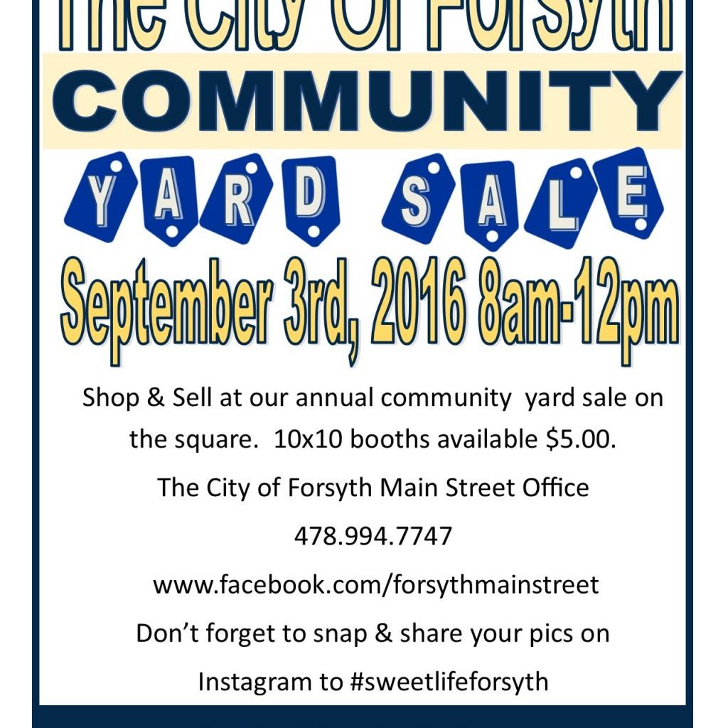yard sale flyer